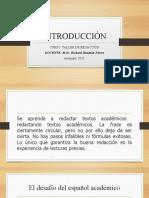 PPT para presentación de taller de redacción