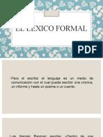 El léxico formal