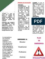 FOLLETO PLAN DE EMERGENCIA 2019