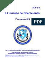 ADP 5-0  (17 MAYO 2012)  (El proceso de Operaciones)  SPME 139-12