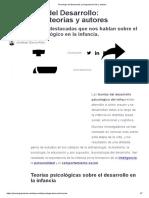 _Psicología Del Desarrollo_ Principales Teorías y Autores