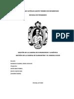 GESTION DE LA CADENA