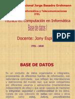 Curso de Base de datos I