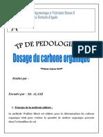 Dosage du carbone organique