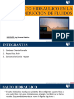 SALTO HIDRAULICO EN LA CONDUCCION DE FLUIDOS - EXPOSICION