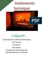 Les  traitements thermique