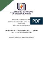 APLICACIÓN DE LA NORMA 9001 - SGS Y LA NORMA MET EN LAS PIEZAS PLÁSTICAS