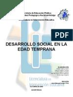 DESARROLLO SOCIAL EN LA EDAD TEMPRANA