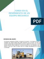 FACTORES DE RENDIMIENTO Y COSTO DE POSESION