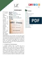 Conclusion au Pentateuque