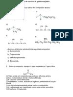 exercicios funções nitrogênadas