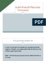 Funciones del Area de Recursos humanos