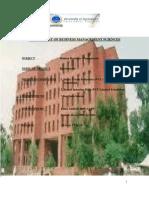 Department of Business Management Sciences 1