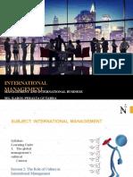 INTERNATIONAL MAGNAMENT