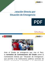 Contratación Directa por estado de emergencia