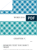Word 2016 - Chapter 3