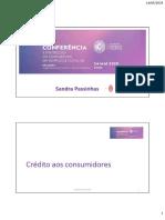 Protecção do Consumidor - Dra Sandra Passinhas