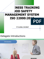 MG - ISO 22000-2018 Awareness Training