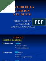 SENTIDO DE LA AUDICION Y GUSTO