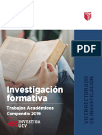 investigacion formativa 2019 - Productos Académicos UCV