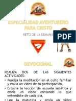 ESPECIALIDAD AVENTURERO PARA CRISTO