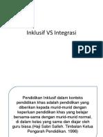 Inklusif VS Integrasi