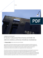 El Sector Cultural del Perú frente al COVID-19_ silencio estatal y primeras iniciativas ciudadanas