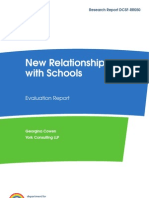 New Relationship with Schools Evaluation