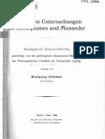 DITTMAR, Sprachliche Untersuchungen zu Aristophanes u. Menander, 1933