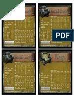 Crocodile & Wasp Datasheets
