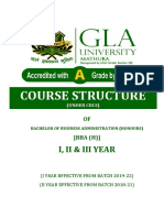 Structure & Syllabus BBA (H)