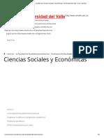 Economía - Facultad de Ciencias Sociales y Económicas _ Universidad del Valle _ Cali, Colombia