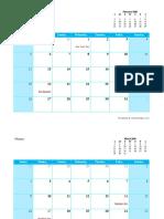 2020 Monthly Calendar 13