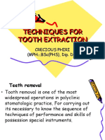 4. Extraction of the teeth . Tools  . Indication