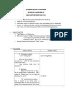 A sample demonstration lesson plan