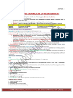 NATURE AND SIFGNIFICANCE OF MANAGEMENT