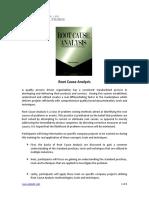 Root Cause Analysis Syllabus