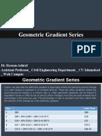 Geometric Gradient Series