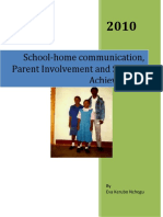 School-Home Communication, Parent Involvement and Student Success