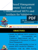 Principle 3 and 4 School-based Management (SBM) Assessment Tool with