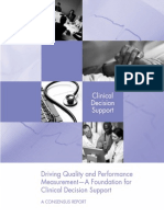 Driving Quality and Performance Measurement - A Foundation for Clinical Decision Support - NQF