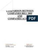 Comparison+Between+Companies+Bill+2009+and+Companies+Act+1956