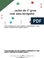 Inequações Do 1º Grau - 7ano