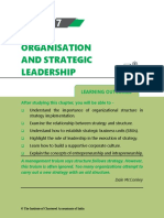 Chapter 7 Organisation and Strategic Leadership