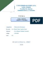 Fundamentos Para La Planeación Estrategica