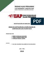 TA UAP - INVESTIGACION DE MERCADO - AYUDIN LIQUIDO MODIFICADO