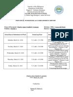Lamama-Individual Workweek Accomplishment Report