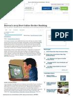 Barron's 2015 Ranking of Online Brokers - Barron's