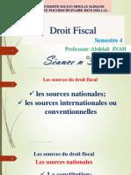 Droit Fiscal S4- Professeur JNAH Abdelali  Séance n°3-1