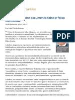 A diferença entre documento falso e falsa identidade